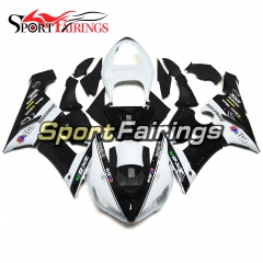 Fairing Kit Fit For Kawasaki ZX6R 2005 - 2006 - Elf White Black