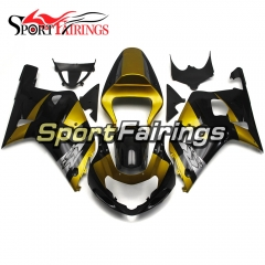 Fairing Kit Fit For Suzuki GSXR600 750 2000 - 2003 -Gold Black