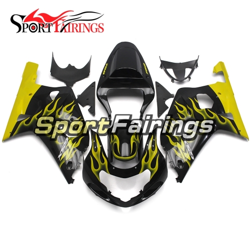 Fairing Kit Fit For Suzuki GSXR600 750 2000-2003 -Yellow Black Flame