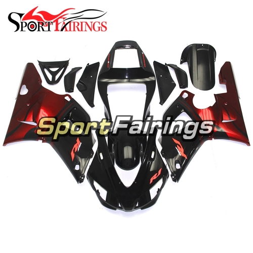Fairing Kit Fit For Yamaha YZF R1 1998 1999 - Red Black Flame