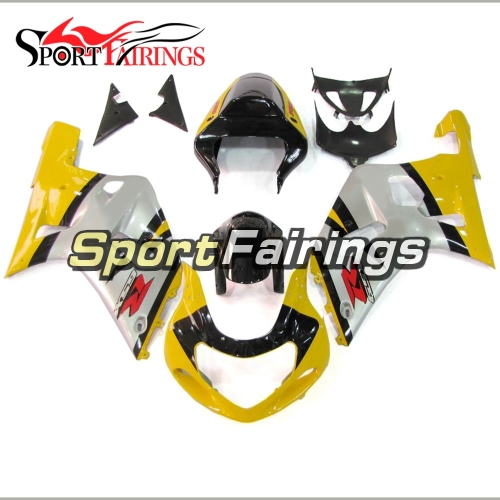 Fairing Kit Fit For Suzuki GSXR600 750 2000 - 2003 -Silver Yellow