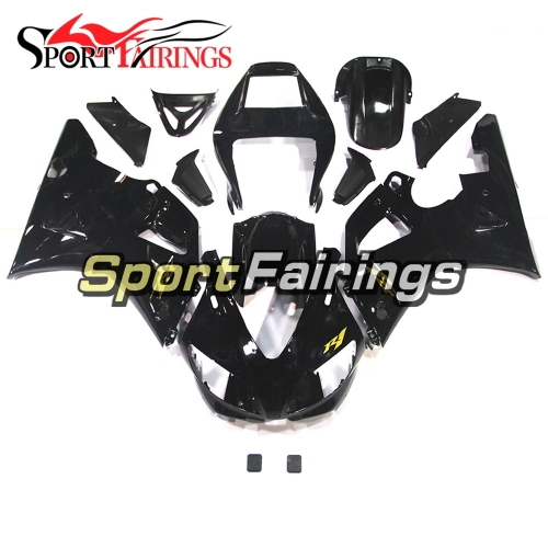 Fairing Kit Fit For Yamaha YZF R1 1998 1999 - Gloss Black with Gold