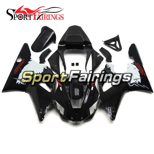 Fairing Kit Fit For Yamaha YZF R1 2000 2001 - Black White