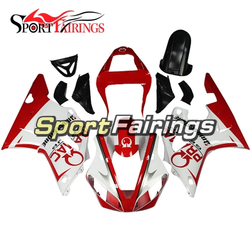Fairing Kit Fit For Yamaha YZF R1 2000 2001 - White Red