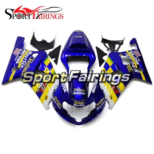 Fairing Kit Fit For Suzuki GSXR600 750 2000-2003 -Blue Yellow