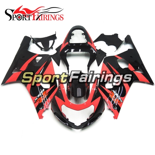 Fairing Kit Fit For Suzuki GSXR600 750 2000 - 2003 -Pink Black