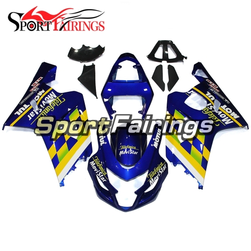 Fairing Kit Fit For Suzuki GSXR600 750 2004 - 2005 - Blue Yellow