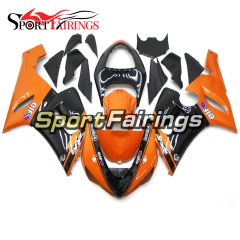 Fairing Kit Fit For Kawasaki ZX6R 2005 - 2006 -Orange Black