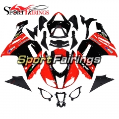 Fairing Kit Fit For Kawasaki ZX6R 2007 - 2008 -Red Black