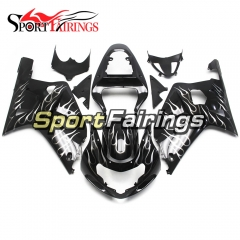 Fairing Kit Fit For Suzuki GSXR600 750 2000 - 2003 -Black White