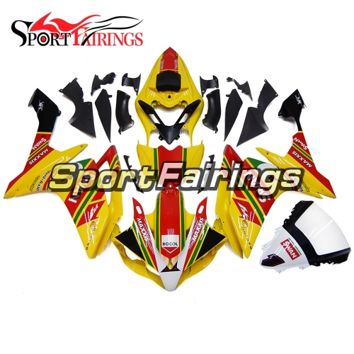 Fairing Kit Fit For Yamaha YZF R1 2007 2008 - Yellow Red