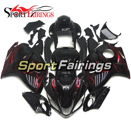 Fairing Kit Fit For Suzuki GSXR1300 Hayabusa 2008 - 2016 - Gloss Black Red