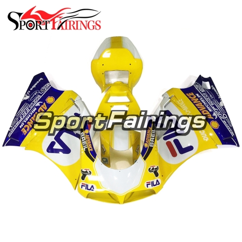 Fairing Kit Fit For Ducati 996/748/916/998 Monoposto 1996 - 2002 - Gloss Yellow Blue
