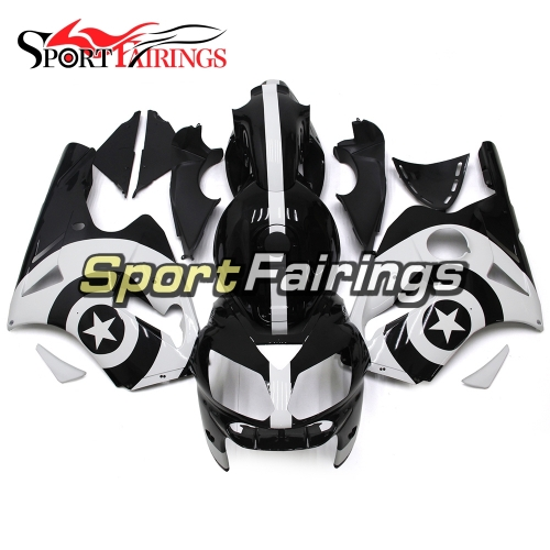 Fairing Kit Fit For Kawasaki ZX12R 2002 - 2006 -White Black Circle Star