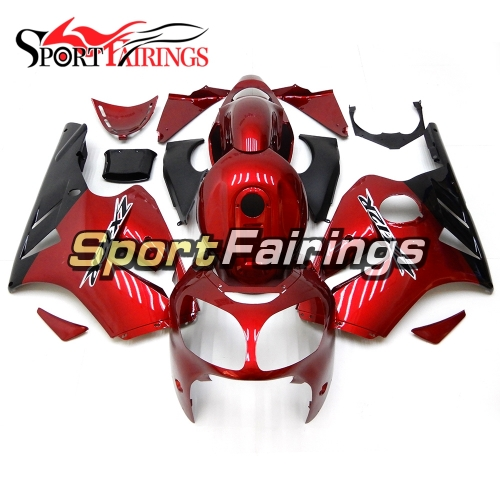 Fairing Kit Fit For Kawasaki ZX12R 2000 2001 -Pearl Red Black