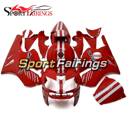 Fairing Kit Fit For Kawasaki ZX12R 2002 - 2006 -Gloss Red White Stripe