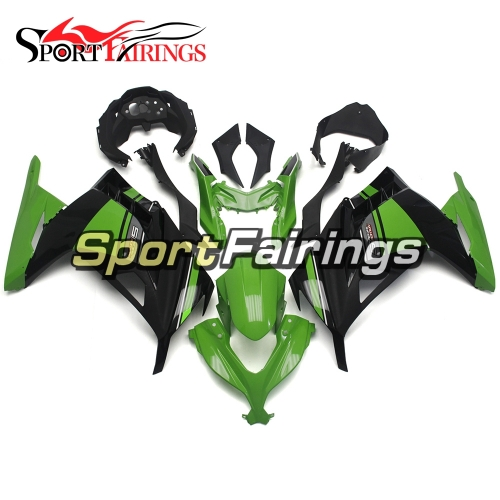 Fairing Kit Fit For Kawasaki EX300R / Ninja 300 2013 - 2015  -Special Edition Black Green