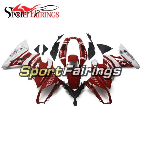 Fairing Kit Fit For Kawasaki ER-6F / Ninja 650r 2009 - 2011 - Red White