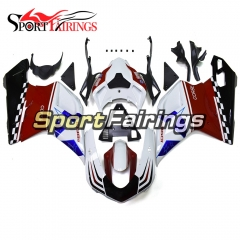 Fairing Kit Fit For Ducati 1098/1198/848 2007 - 2012 - White Red Blue