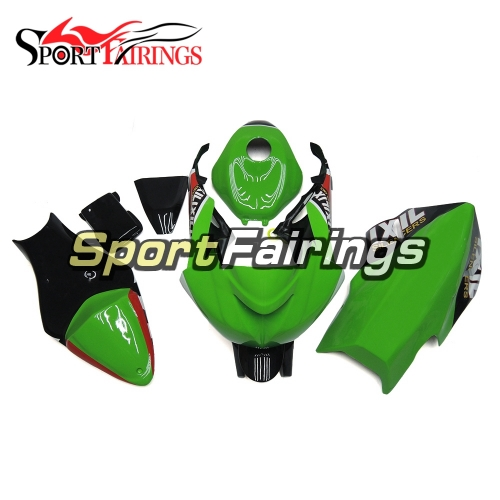 Fiberglass Racing Fairing Kit Fit For Kawasaki ZX6R 2009 - 2012 - Green Black