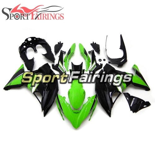 Fairing Kit Fit For Kawasaki ER-6F / Ninja 650r 2017 - Green Black