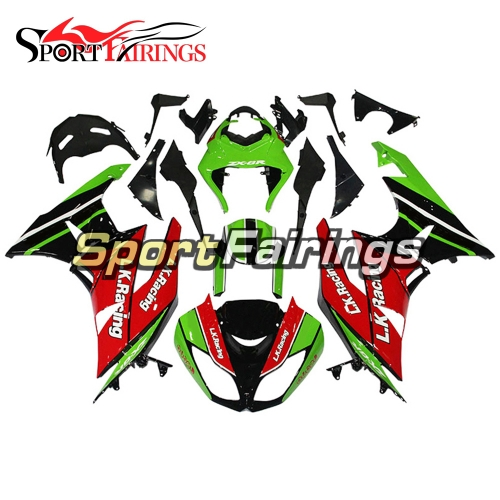 Fairing Kit Fit For Kawasaki ZX6R 2009 - 2010 - L.K.Racing Red Green