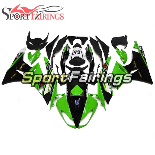 Fairing Kit Fit For Kawasaki ZX6R 2009 - 2010 - Green Black
