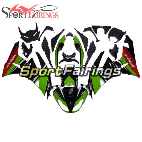 Fairing Kit Fit For Kawasaki ZX6R 2009 - 2010 - LeoVince Green Black