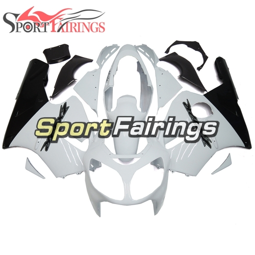 Fairing Kit Fit For Kawasaki ZX12R 2000 2001 -Black White