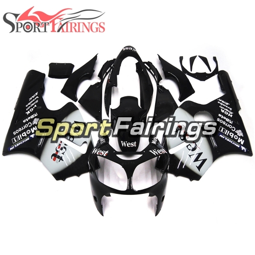 Fairing Kit Fit For Kawasaki ZX12R 2000 2001 -West Black White