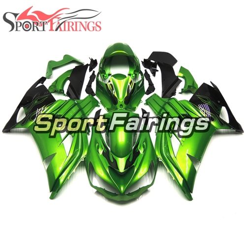 Fairing Kit Fit For Kawasaki ZX-14R /ZZ-R1400 2012 - 2015  -Green Black Flame