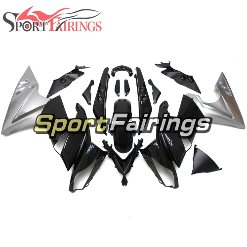 Fairing Kit Fit For Kawasaki ER-6F / Ninja 650r 2009 - 2011 - Grey Black