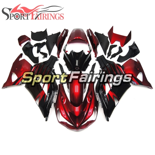 Fairing Kit Fit For Kawasaki ZX-14R /ZZ-R1400 2012 - 2015  -Pearl Red Black