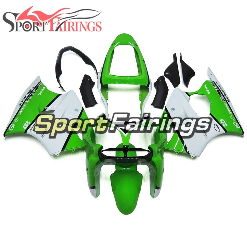 Fairing Kit Fit For Kawasaki ZX6R 2000-2002- Green White