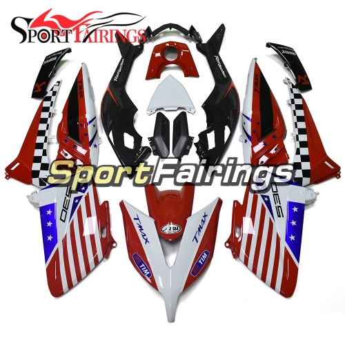 Fairing Kit Fit For Yamaha TMAX530 2015 - Red Black