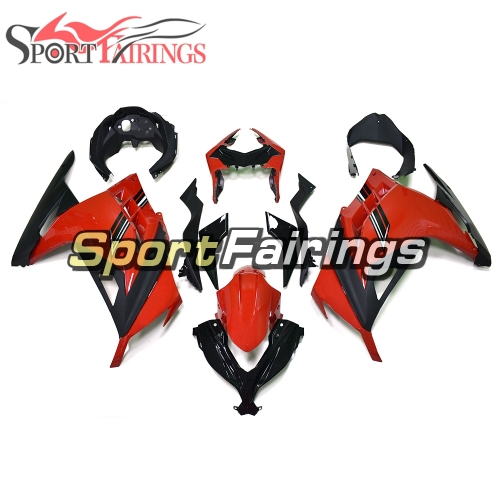 Fairing Kit Fit For Kawasaki EX300R Ninja 300 2013 - 2015  -Gloss Red Black Cowlings