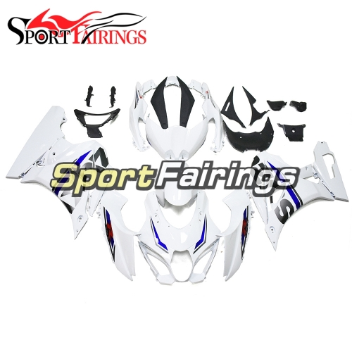 White with Blue Strips Motorcycle Fairing Kit Fit For Suzuki GSXR1000 2017 2018 2019 New Arrival Cowlings