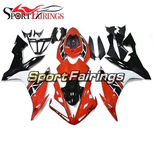 Fairing Kit Fit For Yamaha YZF R1 2004 - 2006 - Red White and Black Lowers