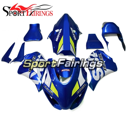 Fiberglass Racing Motorcycle Fairing Kit Fit For Suzuki GSXR1000 2017 2018 2019 New Arrival Cowlings-Blue White Yellow