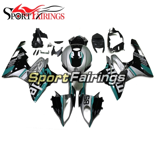 Fairing Kit Fit For BMW S1000RR 2017 2018 - Silver Light Blue