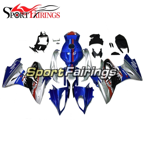 Fairing Kit Fit For BMW S1000RR 2017 2018 - Silver Blue Shark Attack