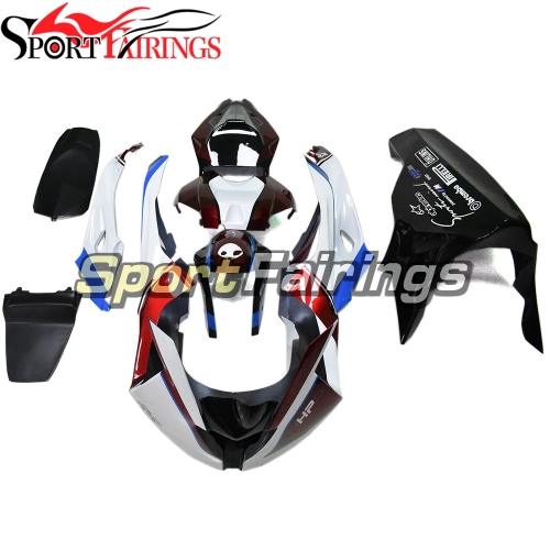 Firberglass Fairing Kit Fit For BMW S1000RR 2015 2016 - Deep Red Black and White
