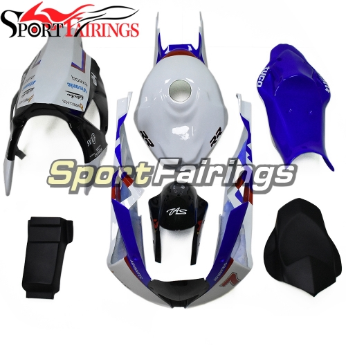 Firberglass Fairing Kit Fit For BMW S1000RR 2011 - 2014 - White Blue TYCO