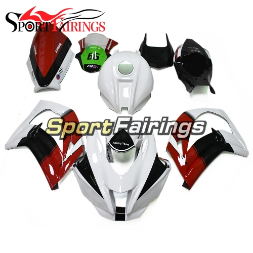 Fiberglass Racing Fairings Kit Fit For Kawasaki ZX10R 2011 - 2015 White Black Red Cowlings