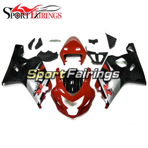 Fairing Kit Fit For Suzuki GSXR600 750 2004 - 2005 - Red Black