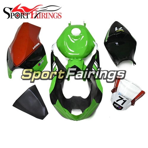 New Fiberglass Racing Fairings Kit Fit For Kawasaki ZX6R ZX-6R 636 2013 - 2018 Elf Green Black White Red