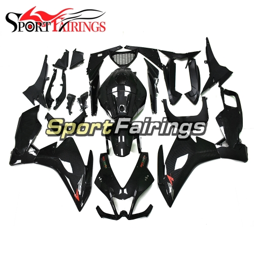 Carbon Fiber Effect Fairing Kit Fit For Aprilia RS125 RS4 125 2012 - 2014 - Gloss Black