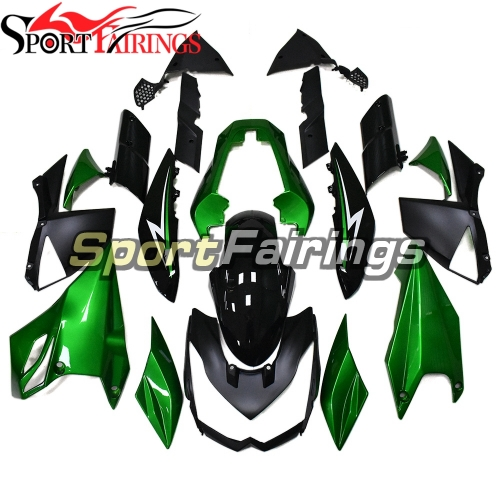 Complete Fairing Kit Fit For Kawasaki Z1000 2010 - 2013 - Gloss Pearl Green Black