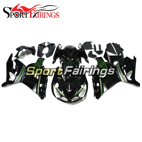 Full Fairing Kit Fit For Kawasaki ZX-14R /ZZ-R1400 2012 - 2015  - Gloss Black Green