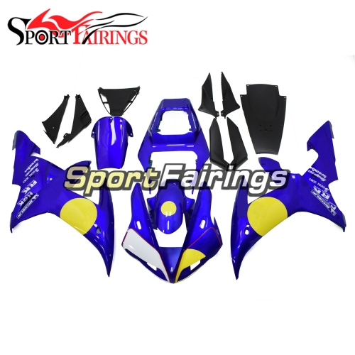 Fairing Kit Fit For Yamaha YZF R1 2002 2003 - Blue Yellow
